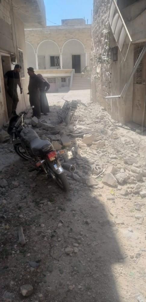 Esad rejiminden İdlib'in güneyine hava saldırısı