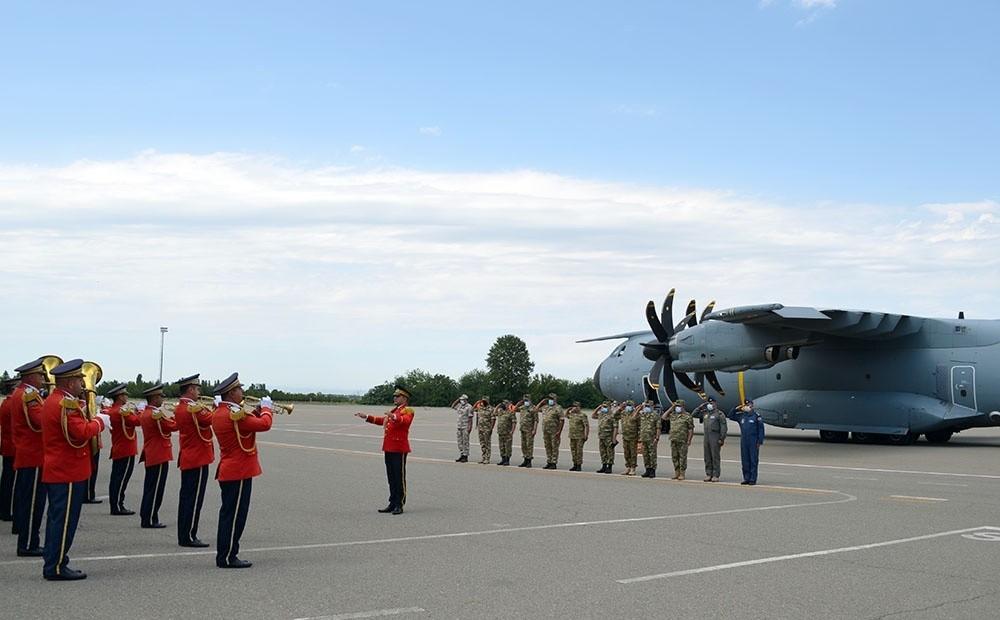 Türk Hava Kuvvetleri personeli 'TurAz Kartalı 2020' tatbikatı için Gence'de