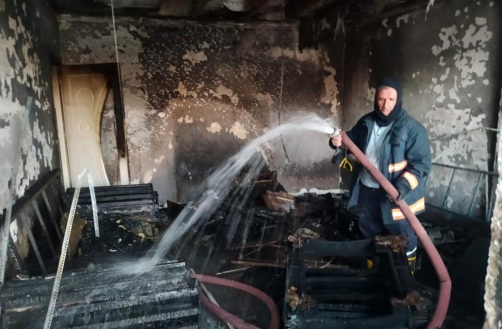 Siirt'te bir evde çıkan yangın korkuttu
