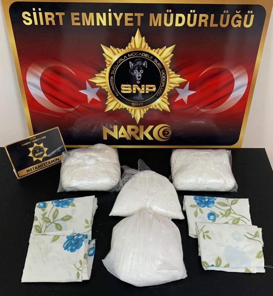 Araçtan 3 kilo 420 gram uyuşturucu çıktı