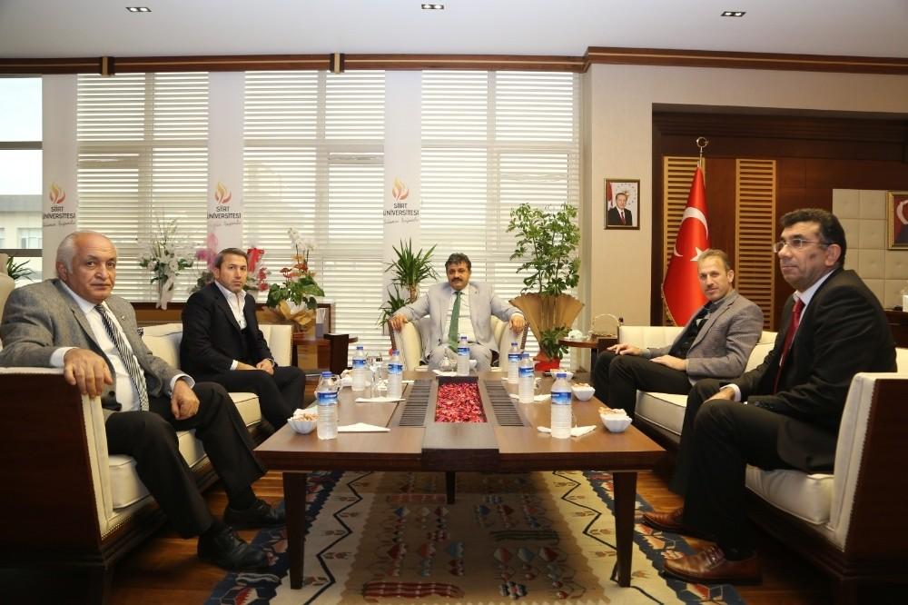 STSO Başkanı Kuzu Siirt Üniversitesi Rektörü Şındak'la bir araya geldi