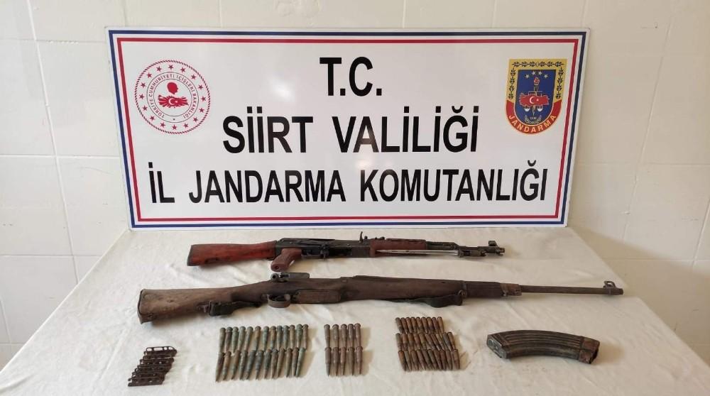Siirt'te PKK'lı teröristlere ait mühimmat ele geçirildi