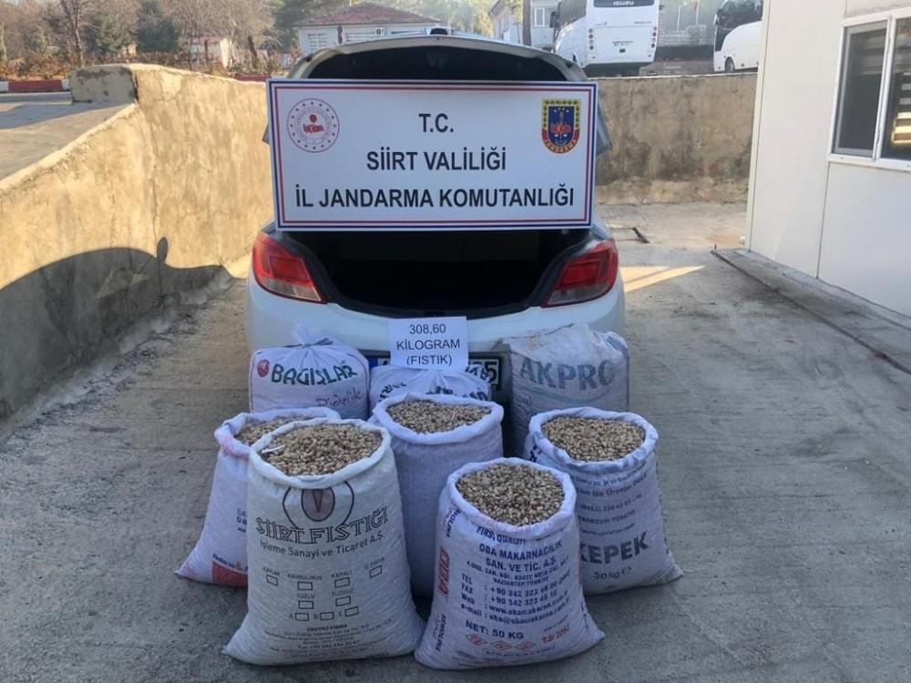 Siirt'te 8 çuval fıstık çalan şahıs yakalandı