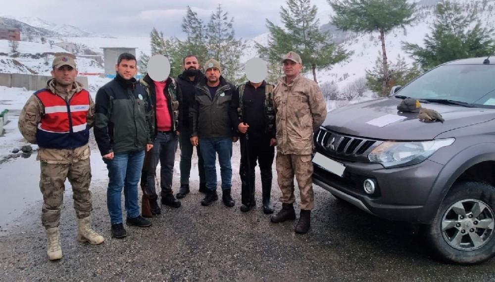Siirt'te kaçak avcılık yaptığı tespit edilen 3 şahıs hakkında tutanak tutuldu