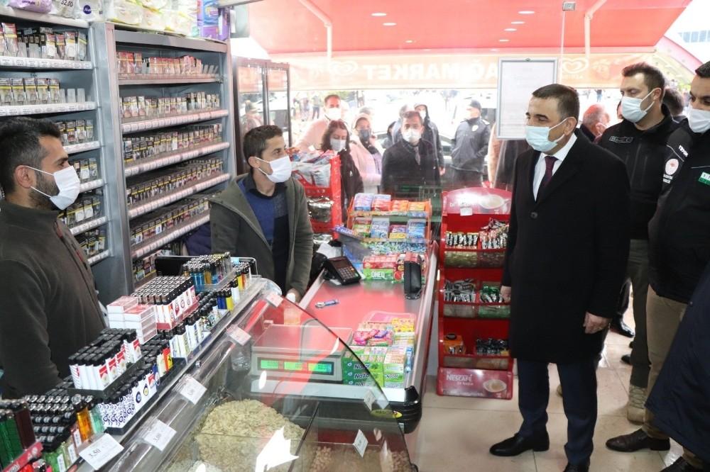 Siirt Valisi Hacıbektaşoğlu, iş yerlerini denetledi