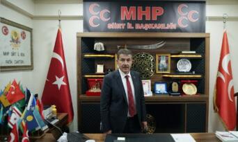 """MHP Siirt İl Başkanı Cantürk: """"Karşınızda eski Türkiye yok, haddinizi bilin"""""""