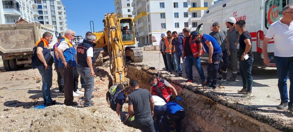 Siirt'te altyapı çalışmasında göçük: 1 işçi yaralandı