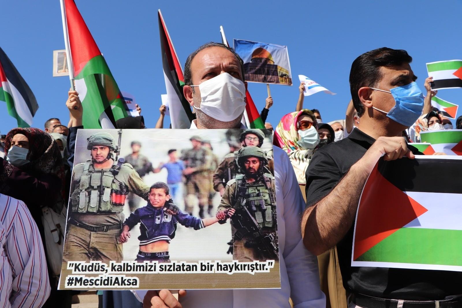 Siirt'te İsrail zulmü protesto edildi