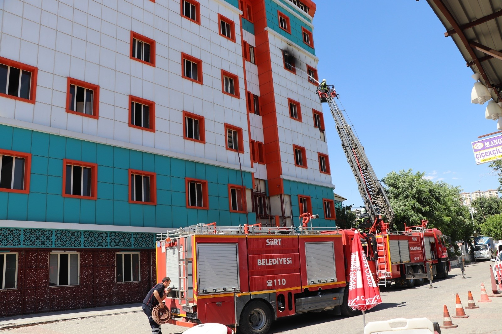 Siirt'te eski hastane binasında korkutan yangın