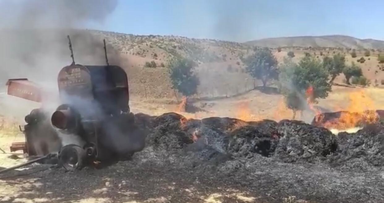 Siirt'te yangın; çiftçinin bir yıllık emeği küle döndü